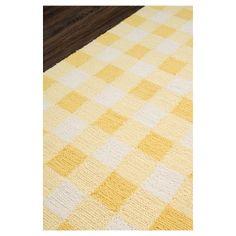 """Gingham Rug - Yellow - (2'3"""" x7'6"""") - Momeni"""