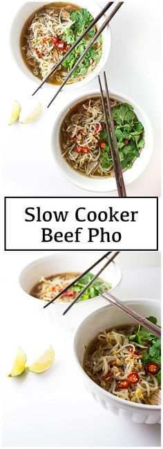Slow Cooker Beef Pho. #slowcookerbeef #pho #crockpotpho #crockpotrecipes