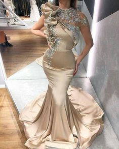 Cheap Evening Dresses, Evening Gowns, Cap Dress, Looks Chic, Mermaid Prom Dresses, Fashion Group, Party Gowns, Party Dress, Special Occasion Dresses