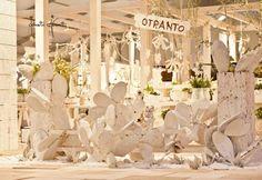 Perle pugliesi valorizzate con colori e fiori ispirati alla Puglia fanno da cornice al giorno più bello. Foto della Fiera Promessi Sposi Lecce 2012