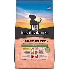 Hills Ideal Balance Adult Large Breed Natural Chicken  Brown Rice Recipe Dry Dog Food 30Pound Bag *** Be sure to check out this awesome product.