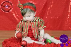 Christmas in July Custom Infant, Baby,Toddler Girls Holiday Ruffled Bolero Jacket Available in Size 6m, 12m, 18m, 24m, 2, 3t, 4T, 5, 6, 7, 8 by 4yourlittlestar on Etsy