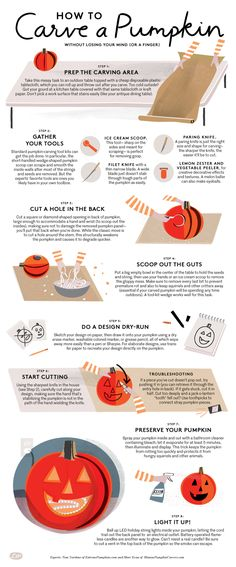 This step-by-step guide offers expert tips and tricks for how to carve a pumpkin like an expert. You're guaranteed to be a carving pro.