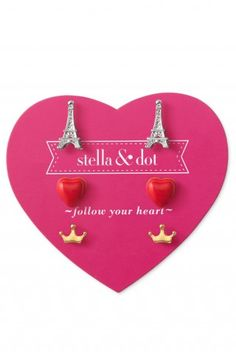 Stella & Dot - Girls' Collection: Paris Trio Earring Set www.stelladot.com/angelaoldfield