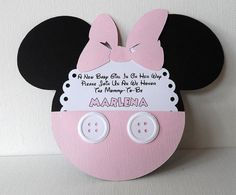 Minnie Mouse Inspired Baby Shower Light Pink by debspartydesigns, $19.50
