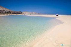 Playa de Sotavento en la Costa Este de #Fuerteventura