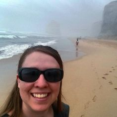 Walked down a very steep set of steps to get a good view of the 12 Apostles... You can kind of see one... #12Apostles #mist #beach #stillbeautiful by jesspetersen07 http://ift.tt/1ijk11S