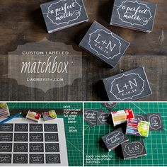 Personalized Matchbox Wedding Favors