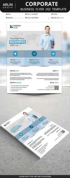 #Corporate #Flyer - Corporate Flyers Download here: https://graphicriver.net/item/corporate-flyer/19528783?ref=alena994