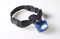 PupLight collar lights up the path for you dog and makes you visible on night walks! Very cool pet safety product.