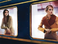 Orient Express Fashion series: Louis Vuitton pays tribute to the golden age of travel by train. Via madame.lefigaro.fr