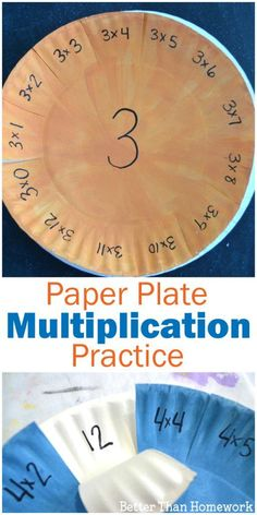 Have fun practicing your multiplication facts with this simple DIY Paper Plate Multiplication Practice Activity. They're easy to make and fun to pick up time and time again for math facts practice. Maths 3e, Learning Multiplication Facts, Math Facts, Multiplication Worksheets, Multiplication And Division, Math Fractions, Math Fact Practice, Fun Math Games, Diy Papier