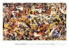 Convergencia Póster por Jackson Pollock en AllPosters.es