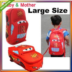 S/M/L Disney Pixar Cars McQueen Boys Girls Kid Backpack School Bag **************************************** תיק גב לילדים בדוגמת מכוניות של דיסני החל מ 49 שקלים כולל משלוח חינם לארץ