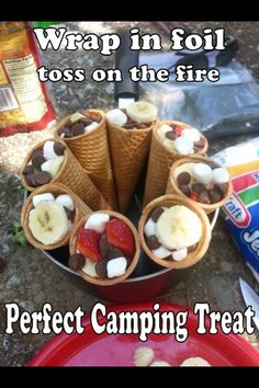 A fun and simple idea for kids during a camping trip!