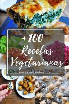100 recetas vegetarianas fáciles y deliciosas Vegetarian Lunch, Vegetarian Recipes, Healthy Recipes, Easy Recipes, Sopas Fitness, Going Vegan, I Foods, Food And Drink, Veggies