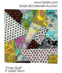 Art quilt by Lisbet Okun Fundraising, Sewing Ideas, Benefit, Auction, Quilts, Blanket, Cool Stuff, Gallery, Art