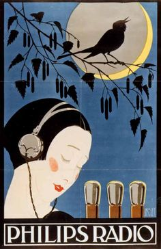 Poster for Philips radio tubes, 1926                                                                                                                                                     More