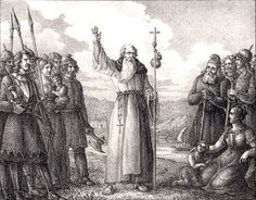During the Viking Age, the vikings converted to christianity. Although the vikings were violent, they were persuaded to convert to christianity by missionaries.