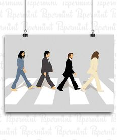 Lámina Beatles- Abbey Road