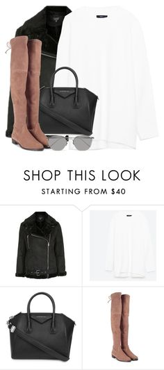 """""""Untitled #2873"""" by elenaday on Polyvore featuring Topshop, Givenchy, Stuart Weitzman and Linda Farrow"""
