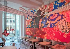 This mural in a restaurant in Washington DC, designed by Capella Garcia Arquitectura.
