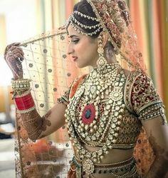 《WEDDING》 BRIDE♡ #bride #dress #red #lehenga #jewwlry #happyday #smiles #wedding #bestofday #weddingdress #bestday #ceremony #bridesmaids #bride #together #happy #romance #romanticday  #bestoftheday #bridesmaid #brides #weddingcake #family #weddingday #smiles #weddingphotographer #bridetobe #weddings #weddingphotography#chura #kalirey #weddingaccessories #weddingparty #marriage #wedding #love # #forever♡♡♡. For More Follow Pinterest : @reetk516