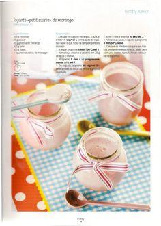 "Iogurte ""Petit suisse""de morango"