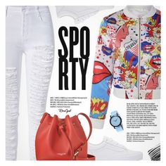 """""""Go Sporty"""" by pokadoll ❤ liked on Polyvore featuring Vans, Lancaster, Bobbi Brown Cosmetics, polyvoreeditorial and polyvoreset"""