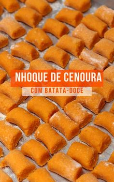 Carrot and sweet potato gnocchi - Rezepte Fun Easy Recipes, Veggie Recipes, Vegetarian Recipes, Cooking Recipes, Healthy Recipes, Sweet Potato Gnocchi, Vegan Foods, Going Vegan, No Cook Meals