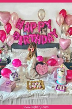 Birthday Ideas Discover HAPPY BIRTHDAY Balloons Banner in 12 Colors DIY Birthday Decorations. 13th Birthday Parties, Birthday Party For Teens, 14th Birthday, Birthday Wishes, Girl Birthday, 30th Party, Birthday Diy, Birthday Presents, Birthday Ideas For Girlfriend