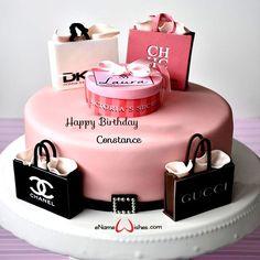 18th Birthday Cake For Girls, Birthday Cake Write Name, 14th Birthday Cakes, Happy Birthday 18th, Birthday Wishes Cake, Cake Name, Designer Birthday Cakes, Birthday Cake Greetings, Birthday Cards