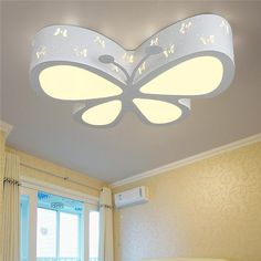 Kids Ceiling Lights, Tiffany Ceiling Lights, Ceiling Lamp, Ceiling Ideas, New Ceiling Design, Ceiling Design Living Room, Bedroom Pop Design, Bedroom Designs, Butterfly Lighting