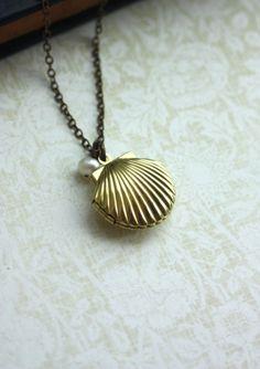 Melody's Locket. Little Mermaid Locket.  Shell Locket by Marolsha, $16.50