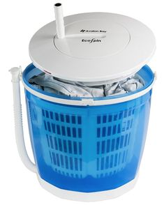 Avalon Bay Portable Manual Hand Crank Clothes Washer and Dryer, EcoSpin - White (White - Plastic) Mini Washing Machine, Portable Washing Machine, Washing Machines, Laundry Solutions, Laundry Hacks, Spin Dryers, Washing Clothes, Cool Things To Buy, Kitchen