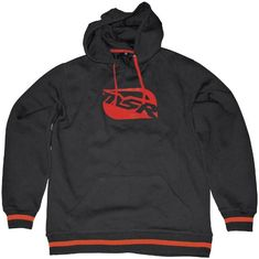 MSR Racing Mens Cruiser Hoody Pullover Sweatshirts BlackRed Small ** Be sure to check out this awesome product.