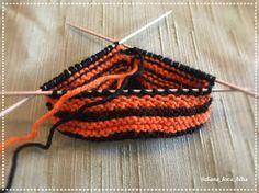BiBa - Käsityöohjeet: neuletossut, villatossut, virkatut tiikeri-tossut - ohjeet Knitting Needles, Wool Yarn, Knitted Hats, Slippers, Crochet, Crafts, Color, Manualidades, Colour