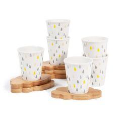 Caja 6 tazas con platos de café Nube