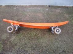 Sport Fun Inc Orange Rubber Plastic Skateboard Old School Retro Vintage 70s