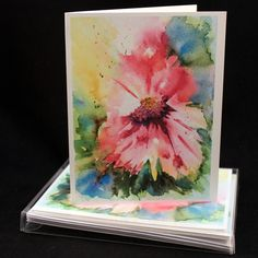 Set of Original PRINT Watercolor Abstract pink flowers, Flower Note Cards/Greeting Cards (Set of Four), Flower Cards, Watercolor Cards by McKinneyx2Designs on Etsy https://www.etsy.com/listing/473628259/set-of-original-print-watercolor