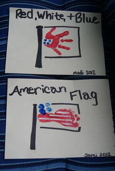 Hand and Foot print American Flag Daycare Crafts, Crafts To Do, Crafts For Kids, Arts And Crafts, Toddler Art Projects, Craft Projects, Footprint Crafts, Finger Print, Foot Prints