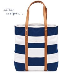 tote in stripes