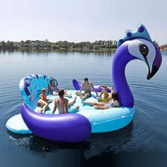 This Rainbow Unicorn Pool Float Fits Six People, Is Where The Party's At - Cosmopolitan.com