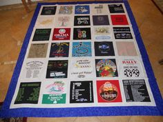 High School Grad Shirt quilt...love this idea!