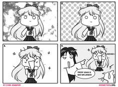 MoonSticks #55 Minako's True Colours featuring Minako Aino/Sailor Venus, Rei Hino/Sailor Mars and Artemis