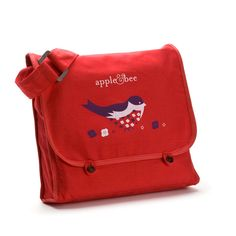 Kids satchel - bird. It reversible and made from organic cotton! At Giving Gifts - http://www.givinggifts.ca/collections/bags/products/kids-satchel-birds