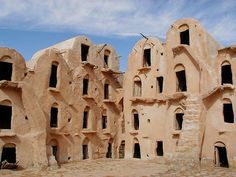 Tataouine. A small city in the North African country of Tunisia, is home to the ksour – amazing fortified granaries used by the Berber population.