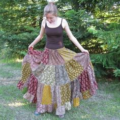 Scrap skirt, I'd love to make this!