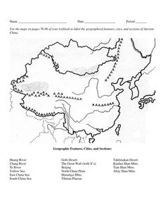NAME: DATE: Ancient India Map Worksheet PART I. Map
