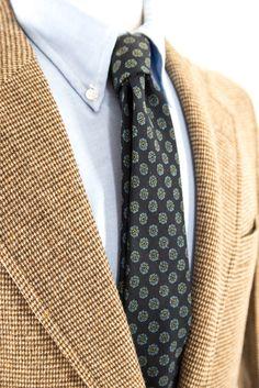 Tweed Suit Mens Vintage Brown Two Piece Suit 38R